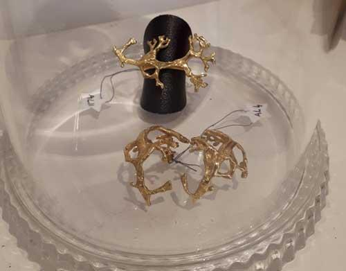 artisanat lyon bijoux créateurs bijouterie fantaisie bague plaque or boucles oreilles artisanat