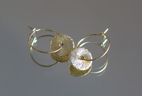 boucles oreilles plaque or creoles bijoux lyon bijouterie